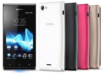 Скоро в продаже появится смартфон Sony Xperia J