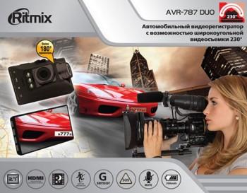 Автомобильный видеорегистратор Ritmix AVR-787 DUO