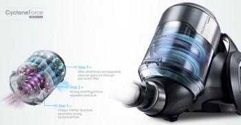 Технология Samsung CycloneForce multi – мощность пылесоса еще выше