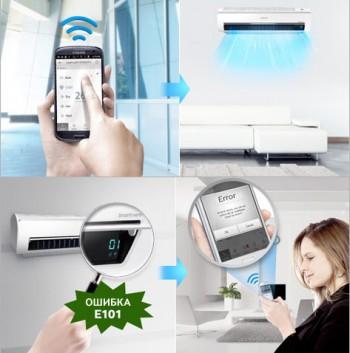 Управление и диагностика кондиционера Samsung через Wi-Fi
